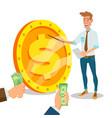 innovative start up monetization project vector image