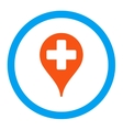 Medical Map Marker Rounded Icon vector image vector image