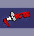 megaphone vote 2020 usa comic text speech bubble vector image