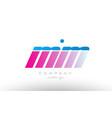 mm m m alphabet letter combination pink blue bold vector image vector image