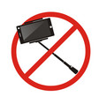 no selfie sticks do not use monopod selfie vector image vector image