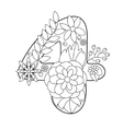 Number 4 coloring book for adults vector image vector image