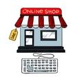 Online internet shop sale icon vector image vector image