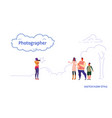 photographer taking a picture of happy family vector image vector image