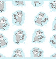 raccoon cute seamless pattern cartoon background vector image vector image
