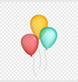 realistic air balloons set isolated on background vector image