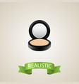 realistic powder element of vector image