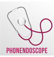 realistic stethoscope isolated medical vector image vector image
