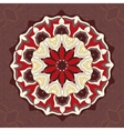 Red and brown color mandala ornamentDecorative vector image vector image