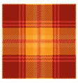 Red Tartan Plaid Pattern Design vector image vector image