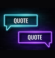 retro neon glowing speech bubble frames vector image