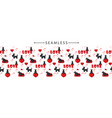 romantic horizontal seamless border with dogs and vector image vector image