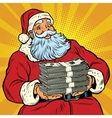 Santa Claus with money vector image vector image