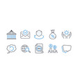 set technology icons such as web search vector image vector image