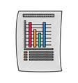 statistics bars graphic vector image