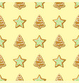 sweet christmas seamless pattern cake cookie vector image vector image