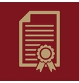 The diploma icon Certificate symbol Flat vector image vector image
