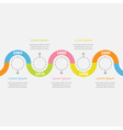 Timeline Infographic with snail shape ribbon text vector image