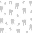 Tooth wallpaper vector image vector image