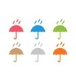 umbrella colored logo vector image