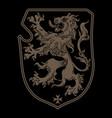 vintage knight heraldic royal emblem a medieval vector image vector image