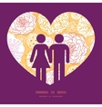 warm day flowers couple in love silhouettes frame vector image vector image