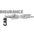 where to find cheap car insurance online text vector image vector image