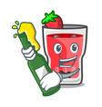 with beer strawberry mojito mascot cartoon vector image