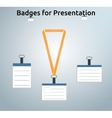 Retractor lanyard and badge vector image