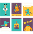 animal cards vector image