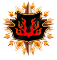 coat of arms with flame vector image