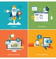 set of digital marketing vector image