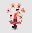 allergy symptoms concept vector image vector image