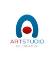 art studio sign vector image