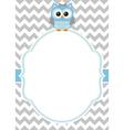Baby Boy Owl Card vector image vector image