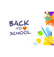 back to school design template with school vector image