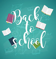 back to school with books and formulas vector image