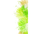 background summer green card leaves palm vector image vector image
