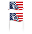 banners with statue of liberty nyc usa symbol vector image vector image