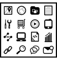 Black web icon set vector image