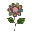 bohemian or boho style flower icon image vector image vector image