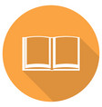book icon with long shadow vector image vector image
