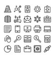 business and office line icons 3 vector image vector image