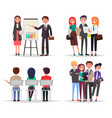 business meeting abstract vector image vector image