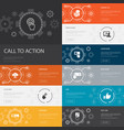 call to action infographic 10 line icons banners