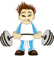 Cartoon bodybuilder vector image