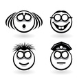 cartoon of emotions vector image vector image
