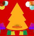 christmas hand drawn style background with gift vector image vector image