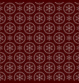 christmas seamless doodle pattern with snowflakes vector image vector image