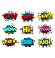 comic book sound effect speech bubbles vector image vector image